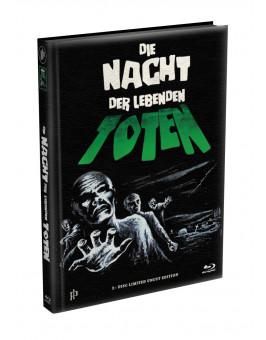 DIE NACHT DER LEBENDEN TOTEN (1968) - wattiertes Mediabook - Cover O (Blu-ray) Limited 22 Edition - Uncut