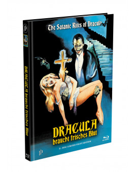 DRACULA BRAUCHT FRISCHES BLUT - 2-Disc Mediabook Cover C (Blu-ray + DVD) Limited 88 Edition - Uncut