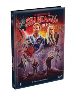 SHARKNADO 1-6 - 6-Disc wattiertes Mediabook Cover A (6 Blu-ray) Limited 500 Edition - Uncut