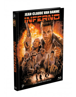 INFERNO (Jean-Claude Van Damme) - 2-Disc Mediabook Cover F (Blu-ray + DVD) Limited 555 Edition - Uncut