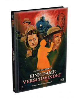 Alfred Hitchcock´s - EINE DAME VERSCHWINDET (The Lady Vanishes) 1938 - 2-Disc wattiertes Mediabook Cover A (Blu-ray + DVD) Limited 500 Edition - Uncut