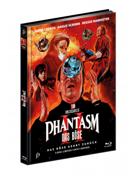 PHANTASM II - Das Böse kehrt zurück - ERSTMALS UNRATED - 3-Disc Ultimate Mediabook Cover A - Limited Edition [1 Blu-ray + 2 DVD] + Bonus: A1 Poster, gerollt