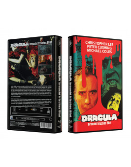 DRACULA BRAUCHT FRISCHES BLUT - VideoCase Retro Edition Cover A - Limited 250 [Blu-ray] Uncut